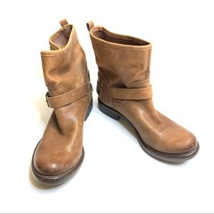 Lucky Brand Low Cut Moto Boots Brown Size 7